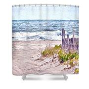 High Tides Shower Curtain