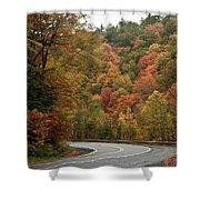 High Walls Of Fall Colors Shower Curtain
