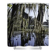 High Water On Blind River Shower Curtain