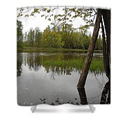 High Water Reflections Shower Curtain