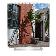 High Wheel Bicycle In Bermuda Shower Curtain