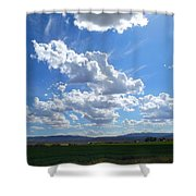 High Winds Chase The Rain Clouds Away Shower Curtain
