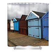 Highcliffe Huts 4 Shower Curtain