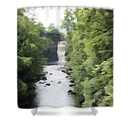 Highforce Waterfall Shower Curtain