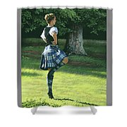 Highland Dancer Shower Curtain