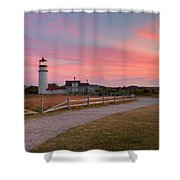 Highland Light Sunset 2015 Shower Curtain