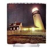 Highland Light Truro Massachusetts Cape Cod Starry Sky Shadow Shower Curtain