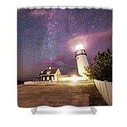 Highland Light Truro Massachusetts Cape Cod Starry Sky Shadow Yard Shower Curtain