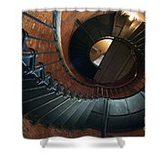 Highland Lighthouse Stairs Cape Cod Shower Curtain