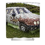 Highland Stoneware Car Shower Curtain