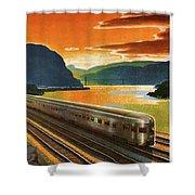 Highlands Of Hudson, Railway, Train Shower Curtain