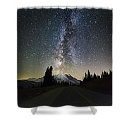Hightway To The Stars Shower Curtain