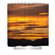 Highway 2 Sunrise Shower Curtain
