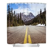 Highway 20 On Rainy Pass In North Cascades National Park Shower Curtain