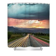 Highway 36 To Beautiful Boulder Colorado Shower Curtain