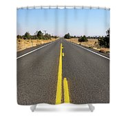 Highway In Central Oregon Shower Curtain