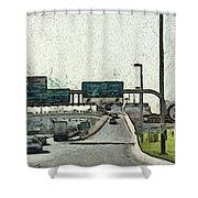 Highway In Dubai Shower Curtain