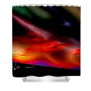 Highway Surreal Sunset Shower Curtain