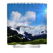 Highway Through The Andes - Painting Shower Curtain