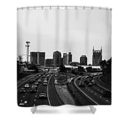 highway to Music City Shower Curtain