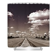 Highway To Paradise Shower Curtain