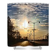 Highway To The Sun Shower Curtain