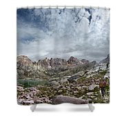 Hiker At Twin Lakes - Chicago Basin - Weminuche Wilderness - Colorado Shower Curtain