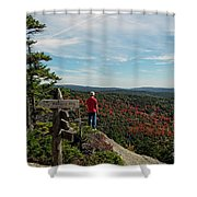 Hiker In Acadia National Park Shower Curtain