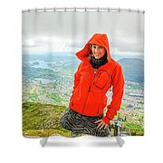 Hiker Woman In Norway Shower Curtain