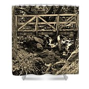 hikers Bridge over the Creek Shower Curtain