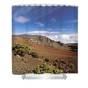 Hikers Inside Haleakala  Shower Curtain