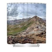 Hikers On Columbine Pass - Weminuche Wilderness - Colorado Shower Curtain