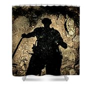 Hikers Shadow Shower Curtain