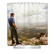 Hiking Australia Shower Curtain