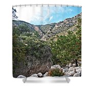 Hiking Guadalupe Shower Curtain