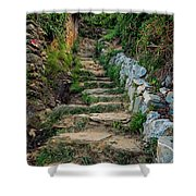 Hiking In Cinque Terre Italy Shower Curtain