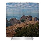 Hiking In Montserrat Spain Shower Curtain