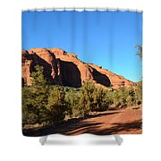 Hiking In Red Rocks In Arizona Shower Curtain