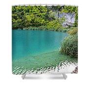 Hiking Kaluderovac Lake Shower Curtain