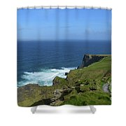 Hiking Path Along The Top Of The Cliff's Of Moher Shower Curtain