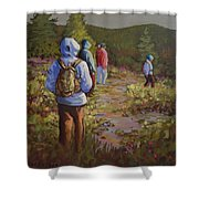 Hiking The Paintbrush Trail, Manning Provincial Park, B. C., Revisited Shower Curtain