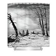 Hiking The Rim, Yosemite Shower Curtain
