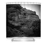 Hiking The Trails In Black And White Shower Curtain
