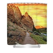 Hiking Trail At Smith Rock State Park Shower Curtain