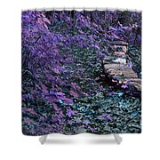 Hiking Trail Infrared Shower Curtain