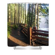 Hiking Trails At Lower Lewis River Trail Shower Curtain