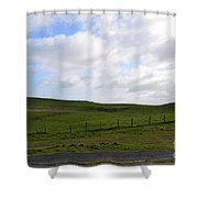 Hiking Trails, Rolling Hills And Grass Fields In Ireland Shower Curtain