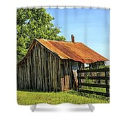 Hill Country Barn Shower Curtain