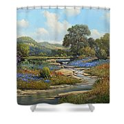Hill Country Draw Shower Curtain