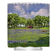 Hill Country Farming Shower Curtain